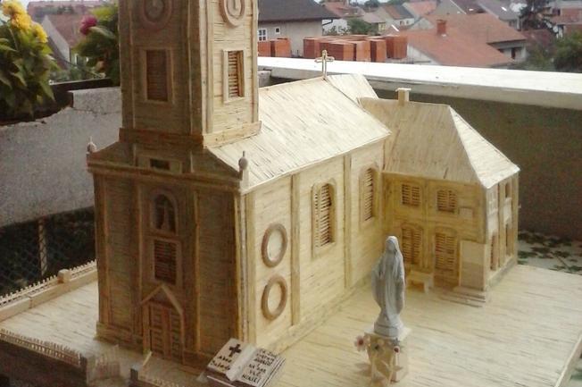 Đakovačku katedralu od šibica gradio 6 mjeseci